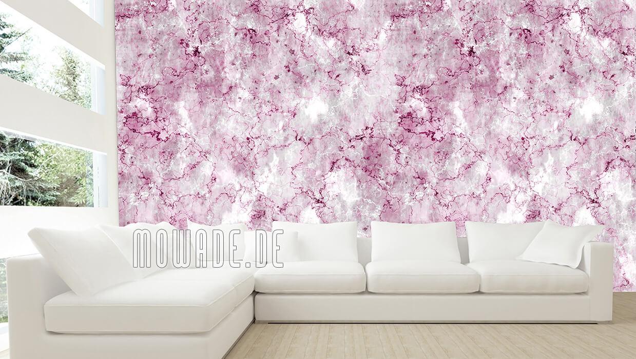 vliestapete steinoptik pink grau vintage shabby wohnzimmer