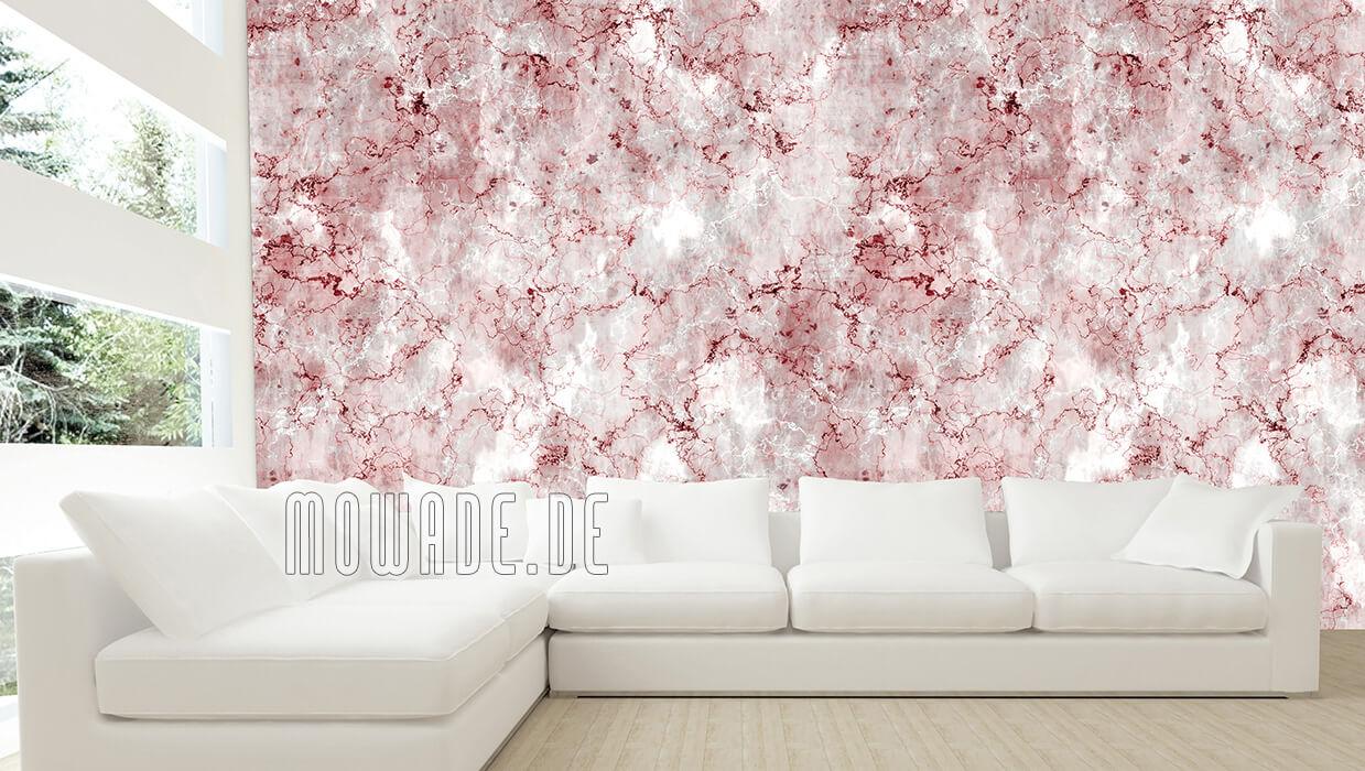 vliestapete steinoptik rot grau vintage shabby wohnzimmer