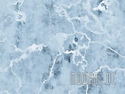 wandgestaltung steinoptik pastell-blau wohnzimmer