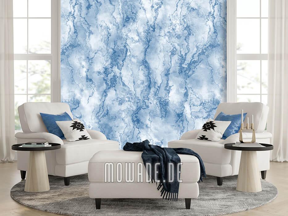 wandmotiv steinoptik hellblau fototapete