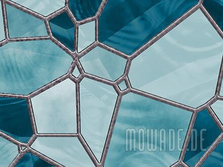 wandtapete tuerkis mosaik modern
