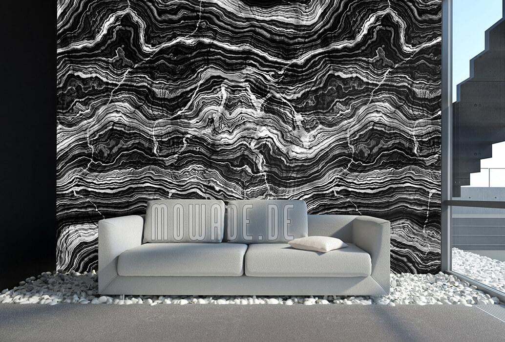 wohnzimmer tapete schwarz grau vlies steinoptik online